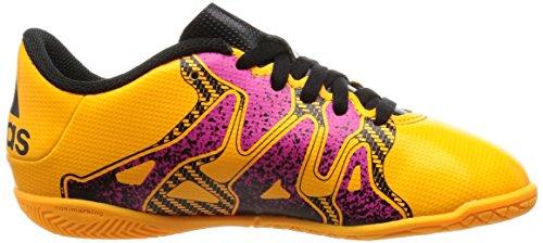 adidas Unisex-Kinder X 15.4 in Fußballschuhe Orange (Solar Gold/Core Black/Shock Pink)