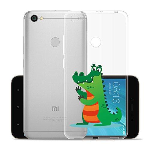 Cover para XiaoMi RedMi Note 5A Prime 5.5 , WenJie Ultrafino Transparente Patrón de dibujos animados TPU Silicona Suave Funda Case Tapa Caso Parachoques Carcasa Cubierta para XiaoMi RedMi Note 5A Pri WM129