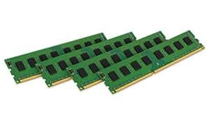Kingston Technology 32GB Kit of 4 (4 x 8GB) DDR3 1600MHz PC3-12800 ECC Memory for Select Dell Desktops KTD-PE316EK4/32G