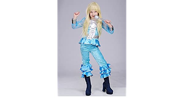 Niños azul 70s Abba disfraz Medium (EU128 7 - 8yrs): Amazon.es ...