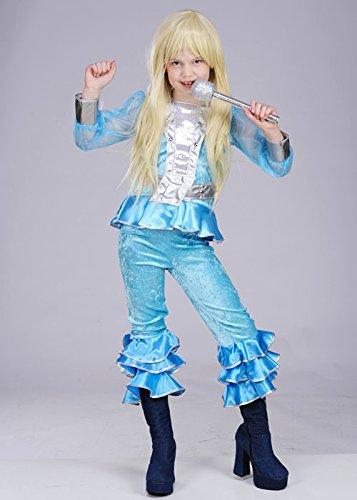 Los niños de los 70 Abba azul chica traje Medium (EU128 7 ...