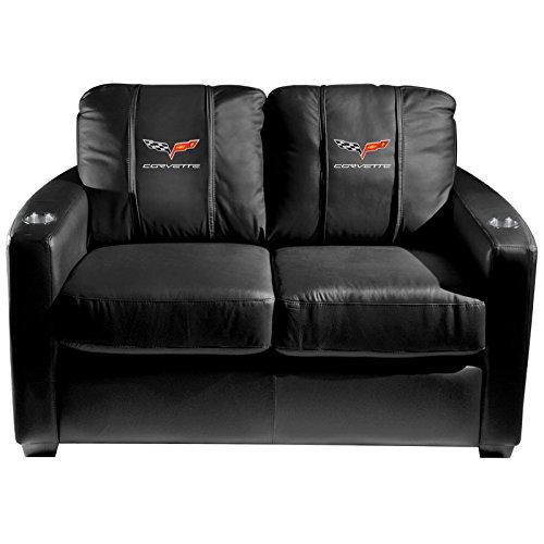XZipit GM Silver Loveseat with Corvette C6 Logo Panel, Black