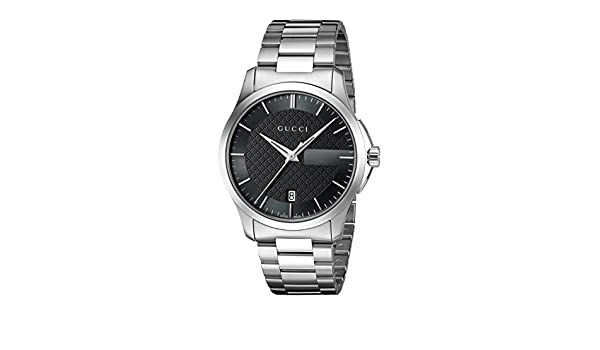 Amazon.com: Gucci G-Timelss Quartz Stainless Steel Watch, Color:Silver-Toned (Model: YA126457): Watches