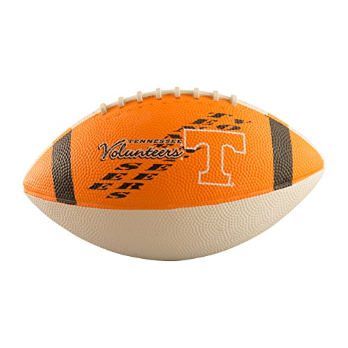 Logo Brands NCAA Tennessee Volunteers Junior Size Rubber Football, Brown - Tennessee Volunteers Brown Football