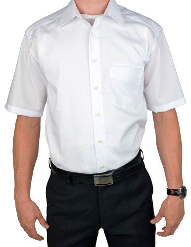 Olymp Luxor kurzarm Hemd Comfort Fit - weiß, Kragenweite:43