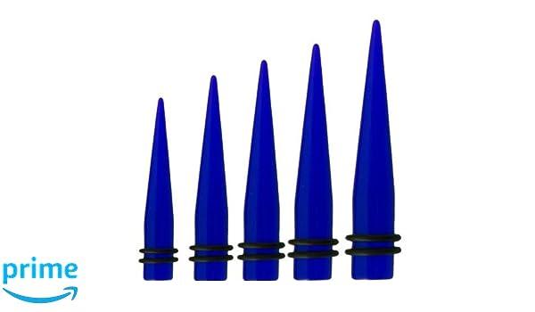 Juego de dilataciones (1,6 mm - 10 mm, protección contra rayos UV) Azul transparente Talla:18,0 mm: Amazon.es: Deportes y aire libre