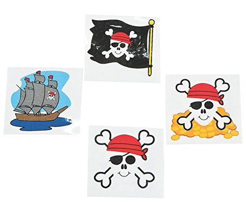 Pirate Tattoos Favors 36 per Package [Toy] - coolthings.us