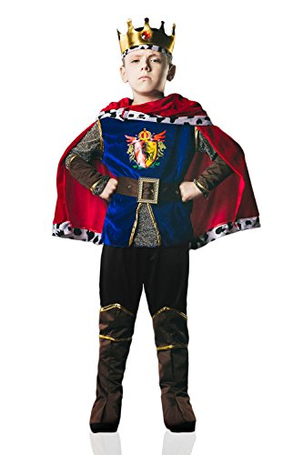 [Kids Boys Warrior King Halloween Costume Great Conqueror Dress Up & Role Play (6-8 years)] (Duke Halloween Costume)