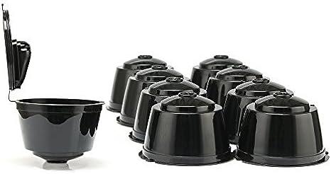 9 tazas/Pack de cápsulas de café recargables Dolce Gustó, cápsulas reutilizables soporte para cápsulas para Nescafe Dolce Gustó compatible con Mini Me, Genio, Piccolo, Esperta y Circolo: Amazon.es: Hogar