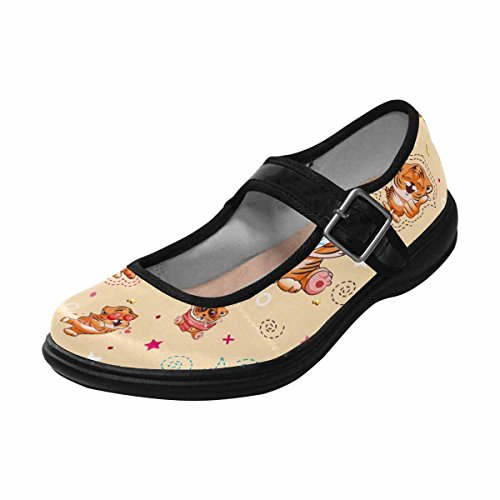 InterestPrint Flats Mary Multi Casual Shoes Walking Jane Womens Comfort 7 q74rExw7I