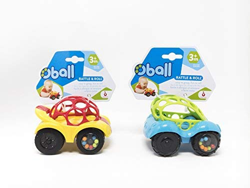 - O Ball 1-Piece Rattle & Roll Car, 2 Pack Value Set
