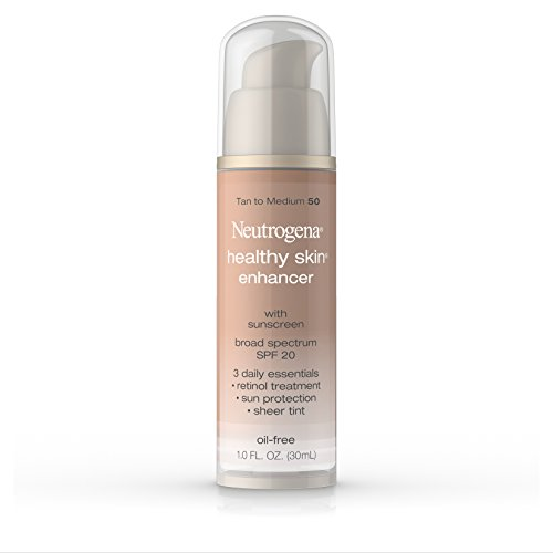 Neutrogena Healthy Skin Enhancer Broad Spectrum Spf 20, Tan To Medium 50, 1 Oz.