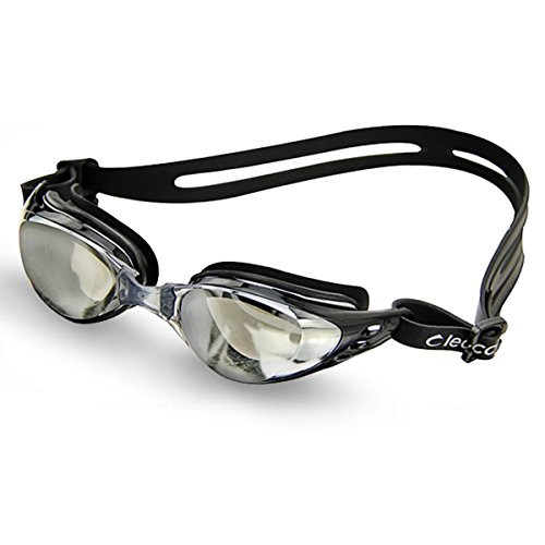 Price comparison product image Pixnor Leacco DL603 Adjustable Unisex Adult Non Fogging Anti-UV Swimming Goggles Swim Glasses (Black)