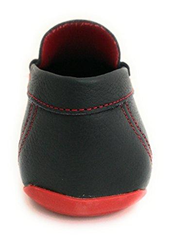 Zerimar de Zapatos 46 para 50 Verano Mocasines Hombre Azul Marino Náuticos Grandes Hombre Hombre Náuticos Náuticos Tallas Piel Hombre rp8r5w