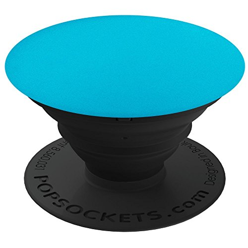 PopSockets: Collapsible Grip & Stand for Phones and Tablets - Blue - Blue Aluminum
