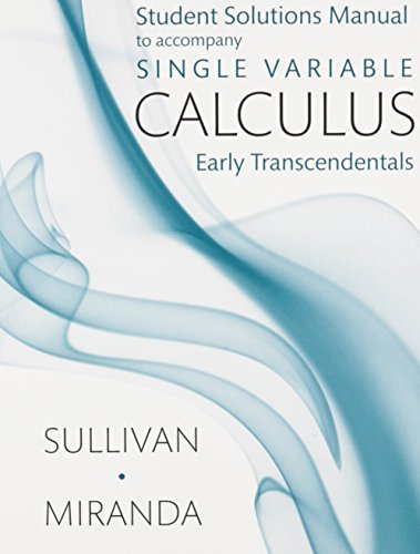 Student Solutions Manual for Calculus (Single Variable)