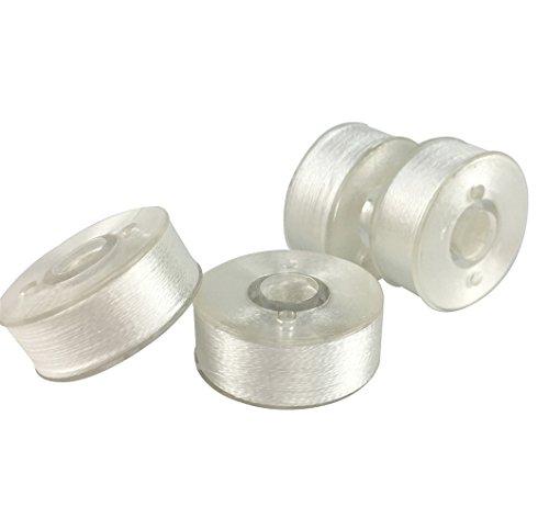 144 Pack - Simthread Prewound Bobbin Plastic Sided Embroidery Bobbins Thread - Size L Bobbins - 3/8