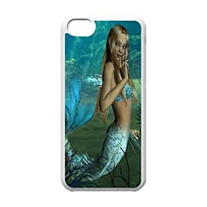 LJF phone case C-Y-F-CASE DIY The Little Mermaid Pattern Phone Case For phone iphone 4/4s