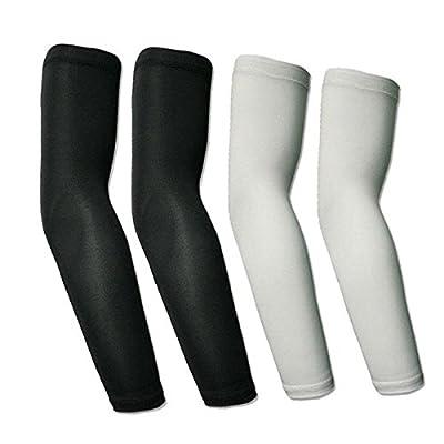 1 pair Cycling Bike UV Sun Protection Arm Warmers Sleeve Covers(Color Random)