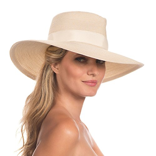 Eric Javits Luxury Fashion Designer Women's Headwear Hat - Daphne - Cream by Eric Javits