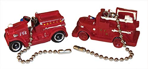 - Old Time Fire Engines Ceiling Fan Pull Set by Wooden Androyd Studio (Pumper set)