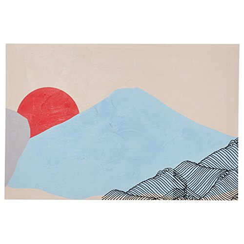 Mid Century Modern Abstract Mountain Landscape Wall Art D cor on Canvas – 36 x 48 Inches