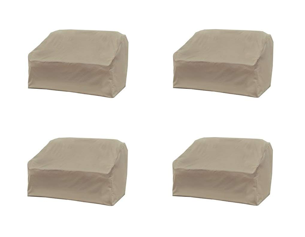 Modern Leisure Love Seat Cover, Weather & Waterproof Love Seat Cover (Pack of 4)