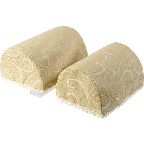 Havard Decorative Pair of Jumbo Arm Caps Swirl Design Furniture Cover with Lace Trim (Pair Lace Trim)
