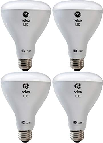 GE Lighting 43073 Relax HD LED (65-Watt Replacement), 700-Lumen BR30 Bulb, Medium Base, Soft White, 4-Pack, Title 20 Compliant ()