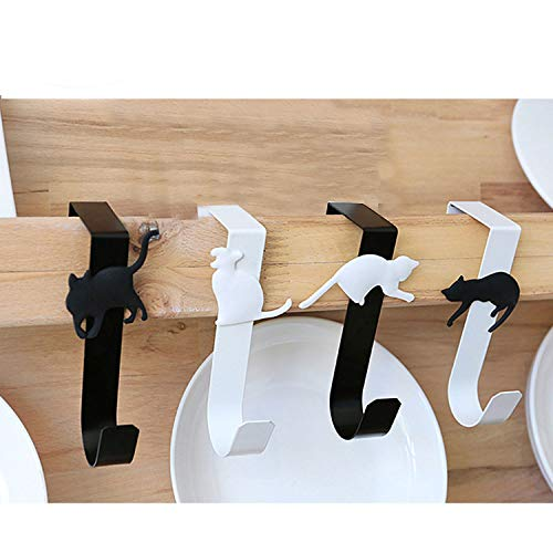 SRHOME 4 Pack Over The Door Cat Hook Hanger,Storage Hanging