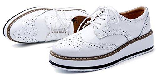 Blanc À Chaussures Wuiwuiyu Lacets Femme Fw8YRWpq