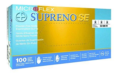 MicroFlex Supreno SE Nitrile Gloves, Medium, 100 Gloves per Box, 10 Boxes per Case
