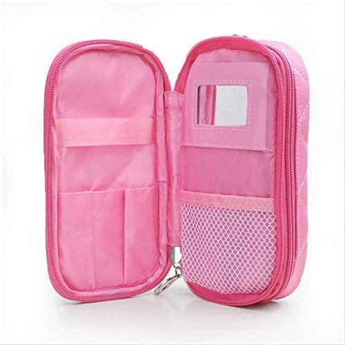 Neceser Maquillaje Neceser Viaje Mujer Ms. Mirror Makeup Travel Mini Handle Beauty Nylon Estuche De Maquillaje Impermeable: Amazon.es: Equipaje