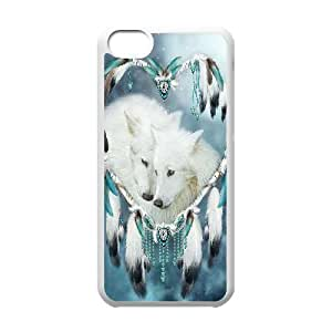 LJF phone case C-EUR Print Wolf Dream Catcher Pattern Hard Case for ipod touch 4