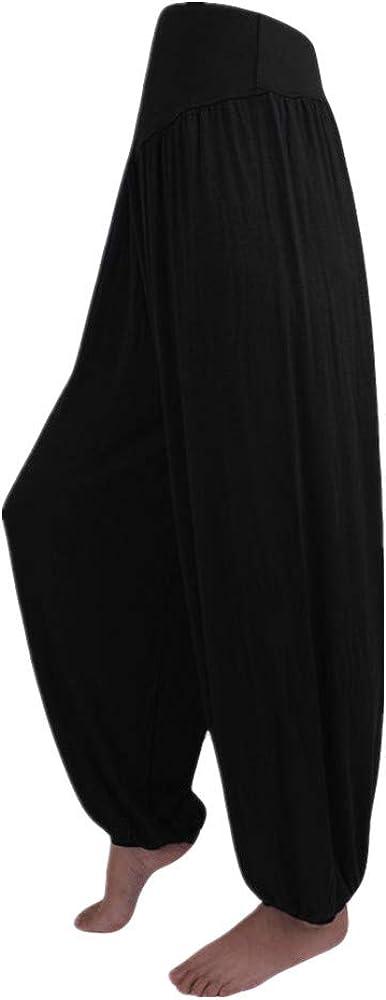 Feytuo Pantalones de Yoga Mujer,Pantal/ón Liso de Mujer Color Liso y Color Liso Pantalones de Yoga Mujer Leggins Pantalones De Har/éN De La India Danza Pantalones De Yoga Pantalones Hippie Boho Mujeres