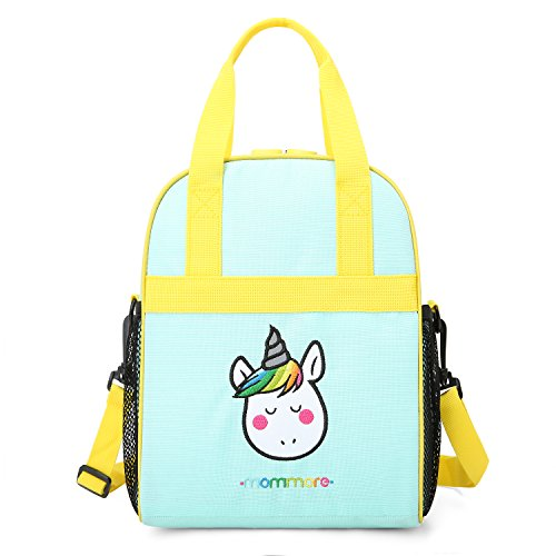 mommore Portable Unicorn Lunch Bag for Kids Insulated Lunch Tote Bag
