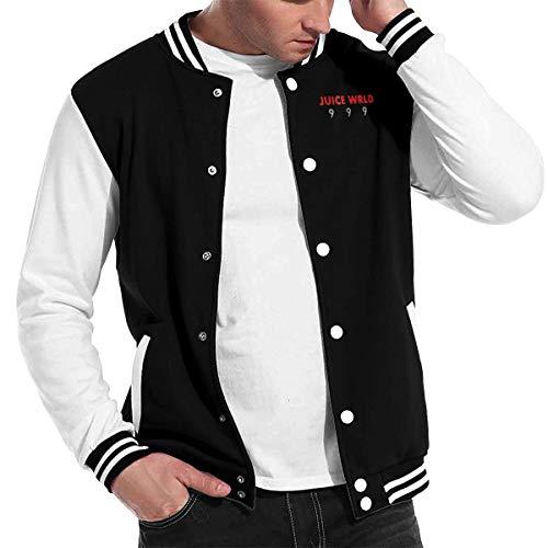 Shahuishahuiewdf Juice Wrld 9 9 9 Funny Baseball Uniform Jacket Sport Coat Black