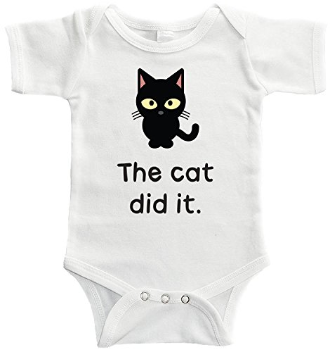 Infant Cat (Starlight Baby The Cat Did It Bodysuit (3-6 months))