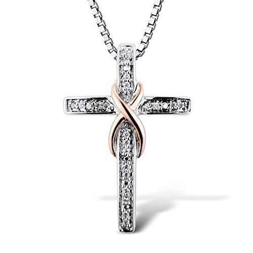 Diamond 10k Gold Necklace - 4