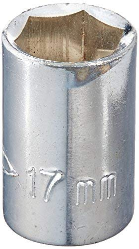 Chrome-plated 18mm hex socket for 1//2square unit
