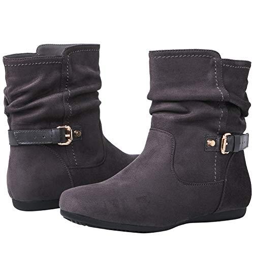 Globalwin Women's 18YY12 Grey Fashion Boots 8.5M