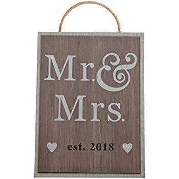Amazon Com Mr And Mrs Est 2018 Wedding Sign For Best Wedding Gift