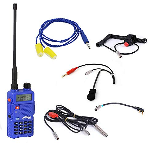Rugged Radios NASCAR-SS-5R NASCAR Racing Single Seat Kit - Includes RH5R Radio, Helmet Kit with Ear Buds, Push to Talk Cable, Radio Jumper and Cable Harness