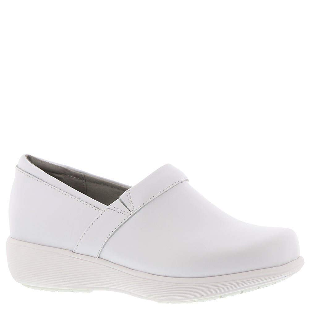 SoftWalk Mens G1400-006 Fabric Slip On Casual Clogs, White, Size 7.5