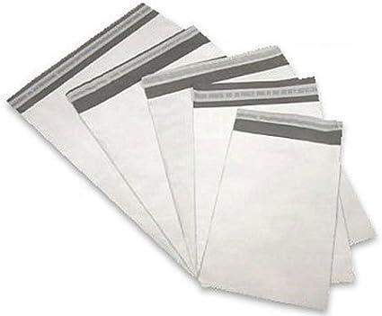 Flagsmart - 1000 bolsas de polietileno autoadhesivas, 19 x ...