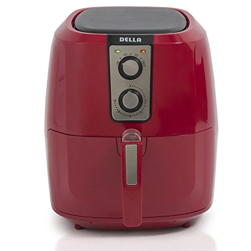 1800w Compact Air Fryer Rapid Air Technology X-Large Red Cooker Oil-Less 5.8qt by AscendPro