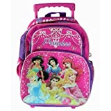 Disney Princess kids luggage backpack - Happily Ever After Princess small wheeled back pack