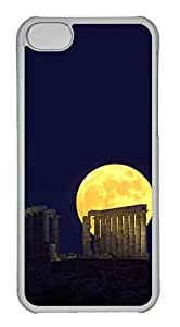 Customized iphone 5C PC Transparent Case - Moon Night Cover by runtopwell