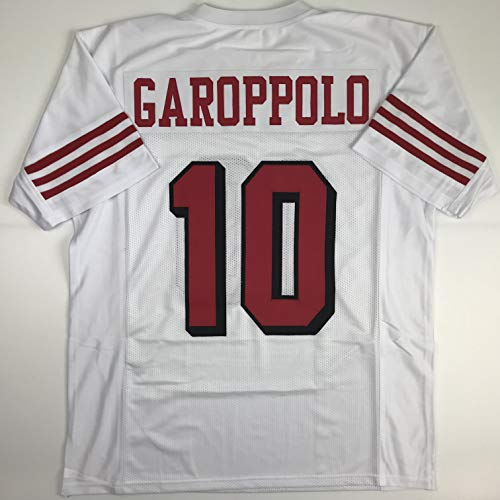 Unsigned Jimmy Garoppolo San Francisco Alternate Retro White Custom Stitched Football Jersey Size Men's XL New No Brands/Logos