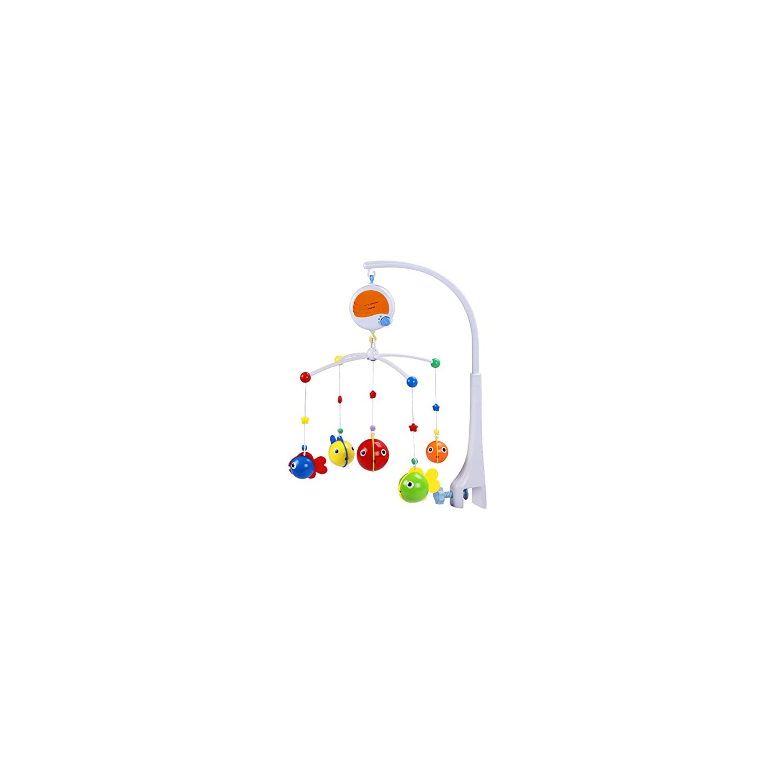 Fisca Baby Musical Crib Mobile, Infant Bed Decoration Toy Hanging Rotating Bell with Melodies Dual Purpose (Mobile & Bath Toy)